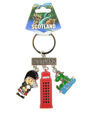 SCOTLAND METAL KEY RING